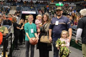 family at sporting event