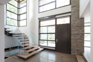 Modern entryway of home
